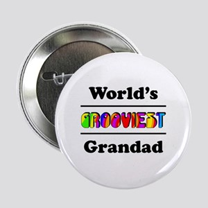 "World's Grooviest Grandad 2.25"" Button"