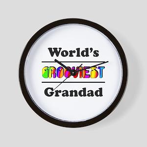 World's Grooviest Grandad Wall Clock