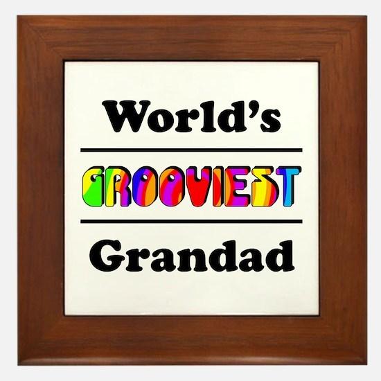 World's Grooviest Grandad Framed Tile