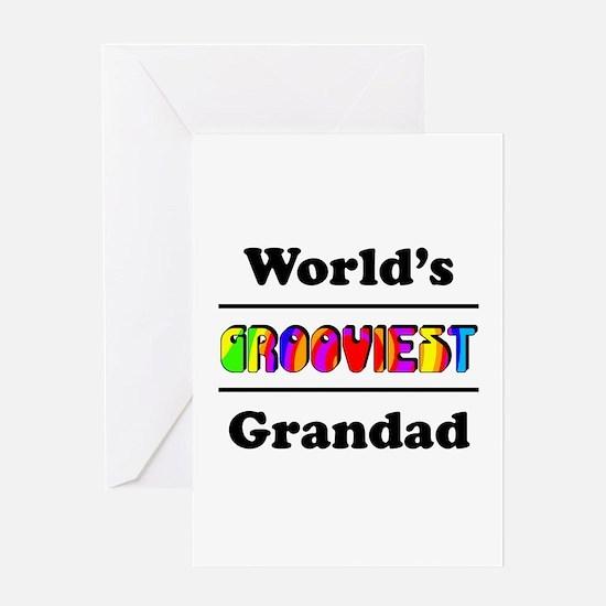 World's Grooviest Grandad Greeting Card