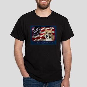 American Staffordshire Terrier Flag Black T-Shirt