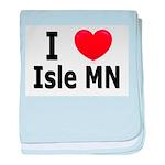 I Love Isle baby blanket