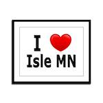 I Love Isle Framed Panel Print