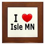 I Love Isle Framed Tile