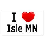 I Love Isle Sticker (Rectangle)