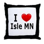 I Love Isle Throw Pillow