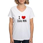 I Love Isle Women's V-Neck T-Shirt