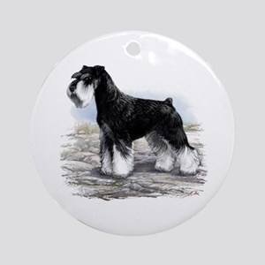 Miniature Schnauzer Ornament (Round)