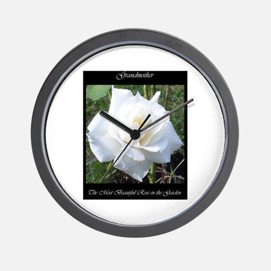 Grandmother the Most Beautiful Rose Wall Clock