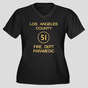 Emergency Squad 51 Women's Plus Size V-Neck Dark T