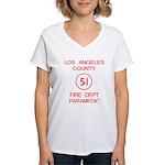 Emergency Squad 51 Women's V-Neck T-Shirt
