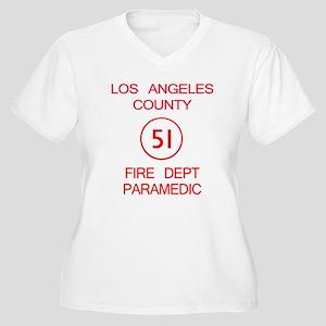 Emergency Squad 51 Women's Plus Size V-Neck T-Shir
