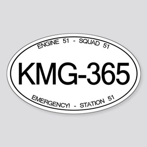 KMG-365 Squad 51 Emergency! Oval Sticker