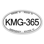 KMG-365 Squad 51 Emergency! Oval Sticker