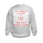 Squad 51 Emergency! Kids Sweatshirt