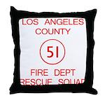 Squad 51 Emergency! Throw Pillow