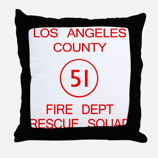Squad 51 Emergency! Throw Pillow
