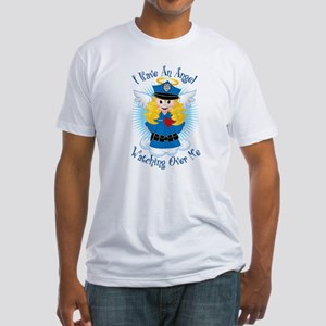 Angel Watching Me Police Fitted T-Shirt