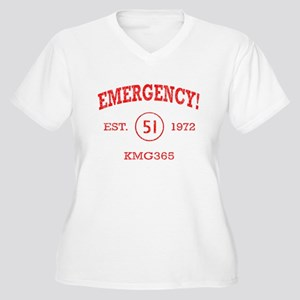 EMERGENCY! Squad 51 vintage Women's Plus V-Neck