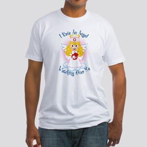 Angel Watching Me Nurse Fitted T-Shirt