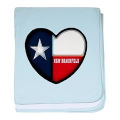 I heart New Braunfels baby blanket