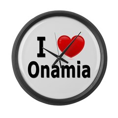 I Love Onamia Large Wall Clock