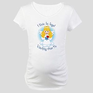 Angel Watching Me EMT Maternity T-Shirt