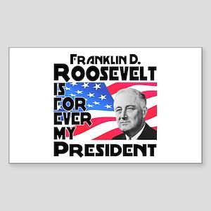 FDR 4ever Sticker (Rectangle)