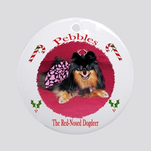 Christmas Pomeranian Ornament (Round)