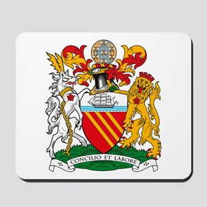 Manchester Coat of Arms Mousepad
