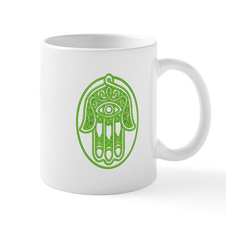 Hamsa Green Mug