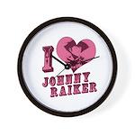 Revolvers I Love Johnny Wall Clock