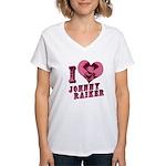 Revolvers I Love Johnny Women's V-Neck T-Shirt