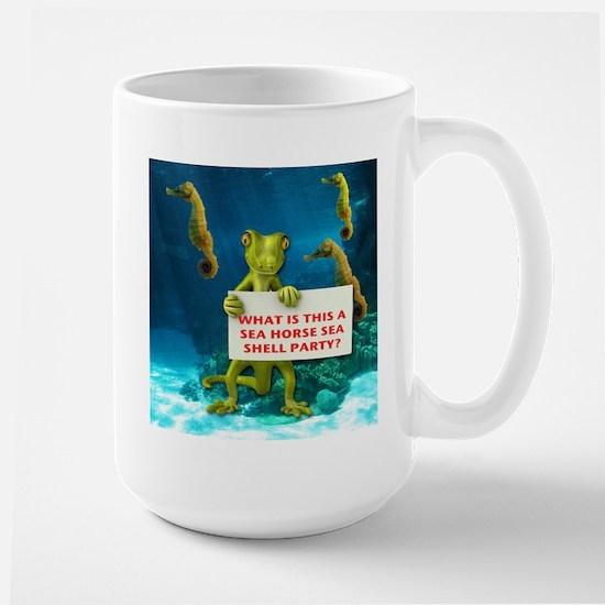 Sea Horse Sea Shell Large Mug
