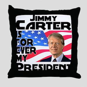 Jimmy Carter My President Throw Pillow