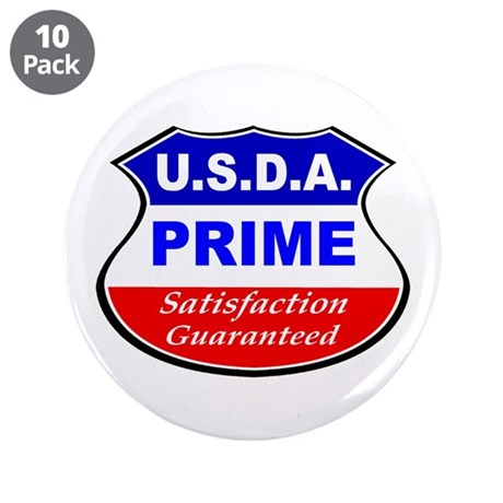 "USDA Prime 3.5"" Button (10 pack)"