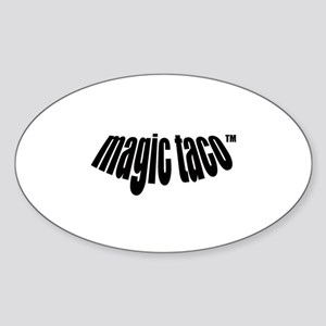 magic taco(TM) Oval Sticker