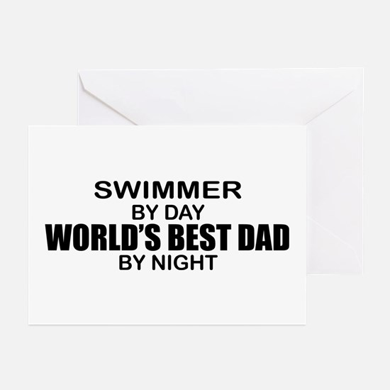 World's Greatest Dad - Swimmer Greeting Cards (Pk
