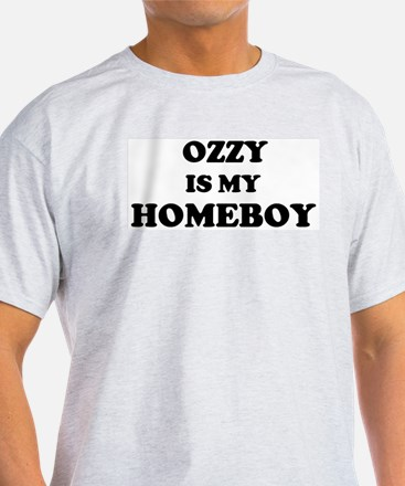 Ozzy Is My Homeboy Ash Grey T-Shirt