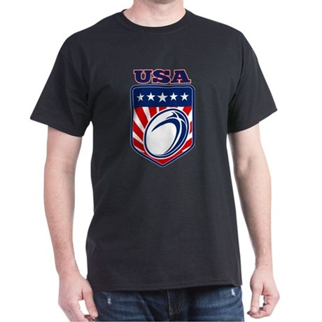 rugby usa Dark T-Shirt