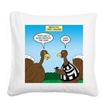Turkey Referee Disguise Square Canvas Pillow