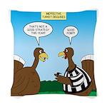 Turkey Referee Disguise Woven Throw Pillow