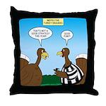 Turkey Referee Disguise Throw Pillow