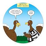 Turkey Referee Disguise Round Car Magnet