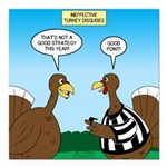 Turkey Referee Disguise Square Car Magnet 3