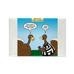Turkey Referee Disguise Rectangle Magnet