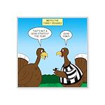 Turkey Referee Disguise Square Sticker 3