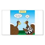 Turkey Referee Disguise Sticker (Rectangle 10 pk)