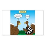 Turkey Referee Disguise Sticker (Rectangle 50 pk)