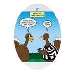 Turkey Referee Disguise Oval Ornament